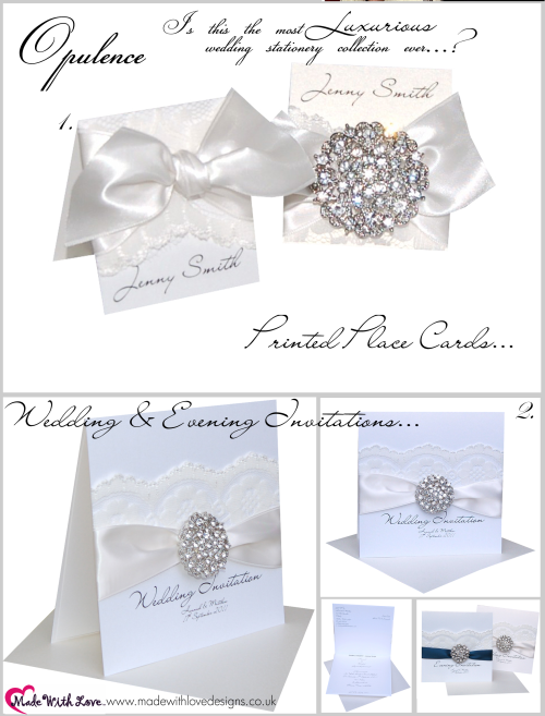 Vintage Lace Wedding Invitations & Lace Place Cards