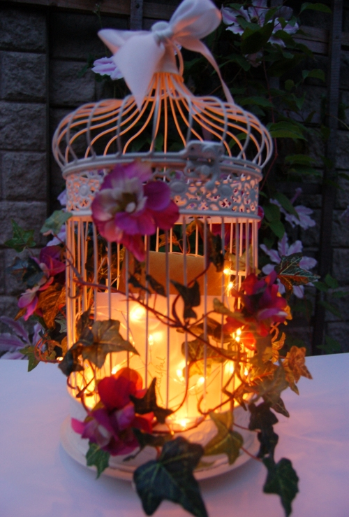 Add sparkle to evening reception with these enchanted bird cages
