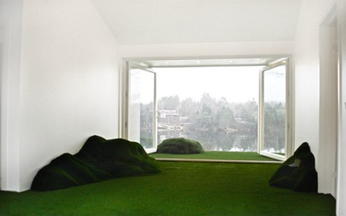Grass floor covering