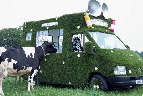 Innocent Smoothie Grass Van