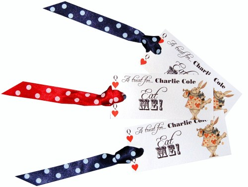 Alice In Wonderland 'Eat Me' Favour Tags