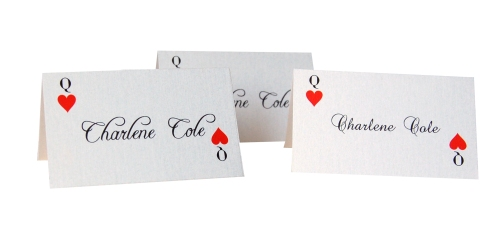 Alice In Wonderland Place Cards featuring Queen of Hearts