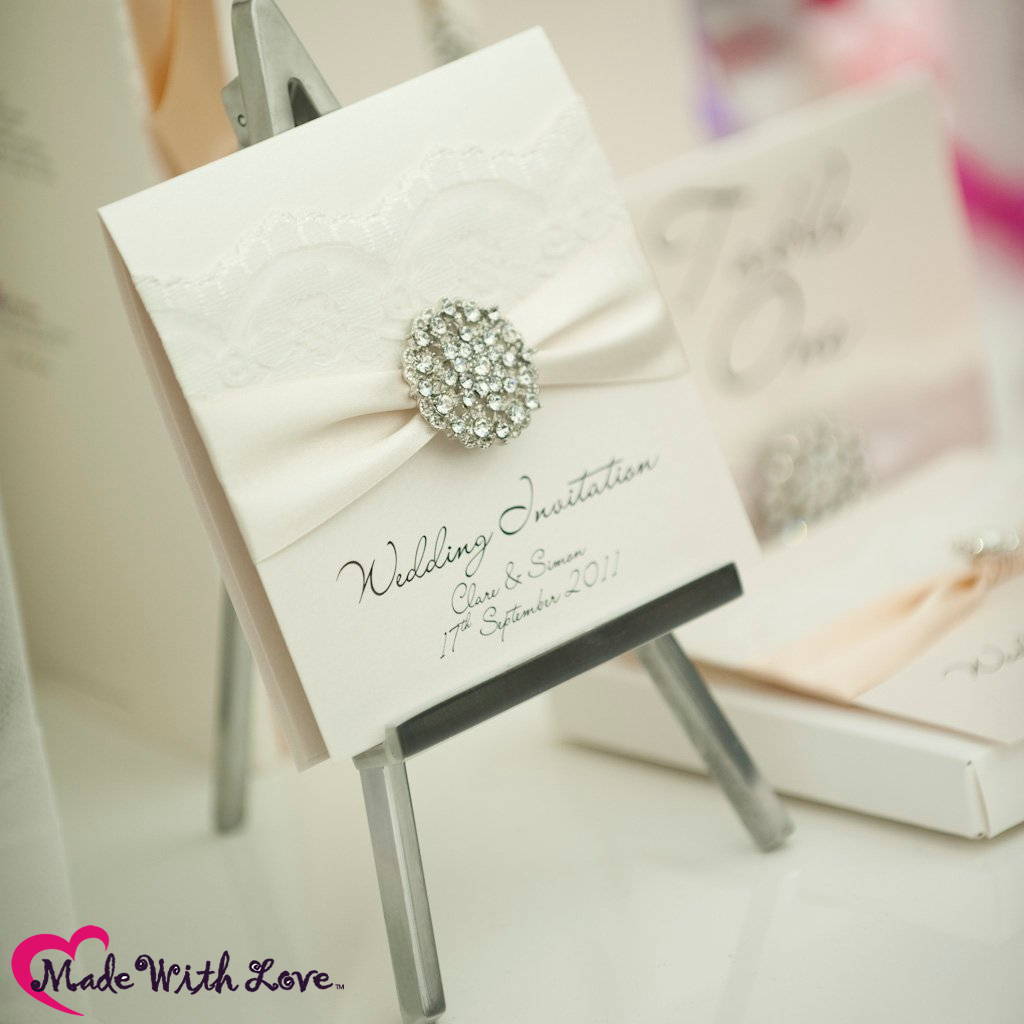In The Spotlight Opulence Lace Crystal Luxury Invitations Made With