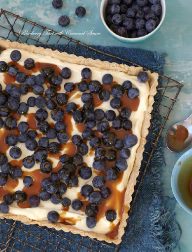 Blueberry Tart with Caramel Sauce | Made With Love Designs