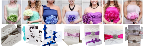 Hot Trends: Sage Green Invitations, Aqua invitations, Cobalt blue invitations, lilac & Lavender invitations, Fuchsia invitations, Blush & baby pink invitations