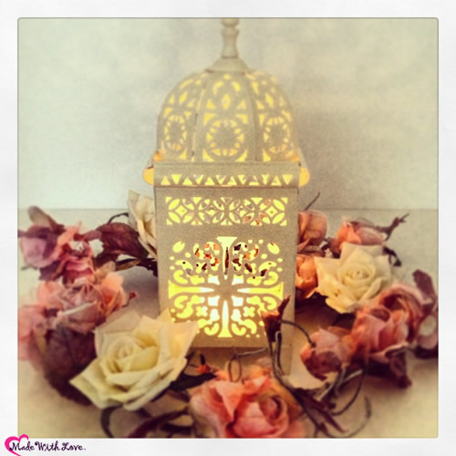 Morrocan Art Deco Lantern Cream