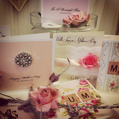Personalised vintage style mothers day cards by Made With Love UK design studio