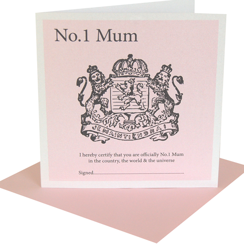 No 1 Mum Mothers Day Cards
