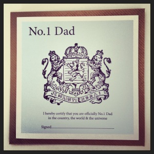 Cool vintage inspired Father's day card