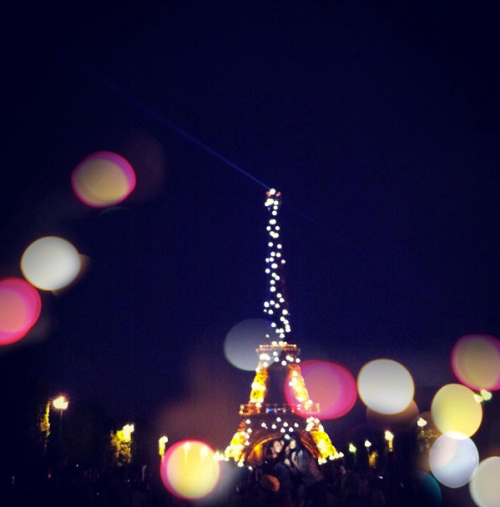 The Eiffel Tower with pretty Bokeh effect