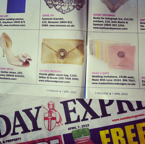 Made With Love Pastel Wedding Invitations in The Daily Express
