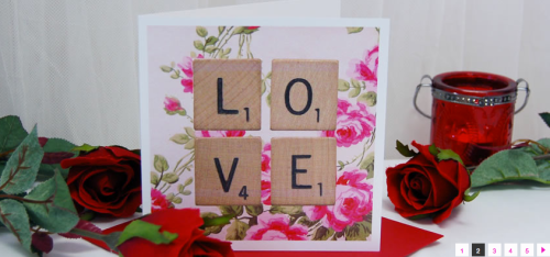 Vintage scrabble Valentines day. Shabby chic roses and scrabbles tile print LOVE