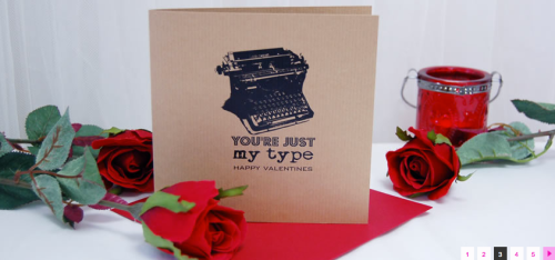 You're just my type vintage rustic typewriter card printed on 100% recycled card