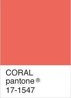 Coral Pantone colour card