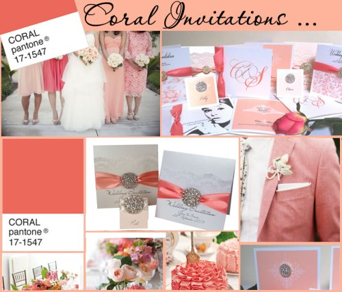 Luxury coral wedding stationery inspiration