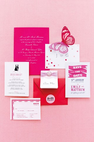 bridesmagazine.co.uk and our ombre pink place cards
