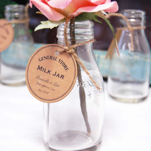 Milk Bottles Vintage rustic wedding table decorations