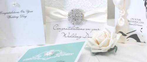 Personalised wedding cards available online