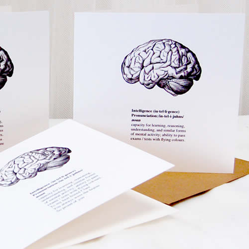 Brain Congratualtions Card perfect for brain boxes