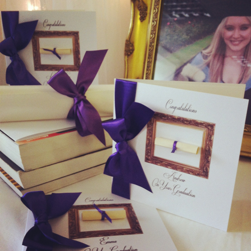 Luxury graduation personalised cards
