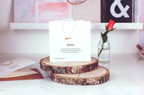 Mothers Day love birds Necklace Card single £19.95 www.madewithlovedesigns.co.uk