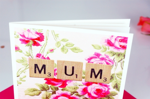 Mothers Day Scrabble Rose close up £3.50 www.madewithlovedesigns.co.uk