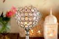 Crystal Globe Tealight Holder close up