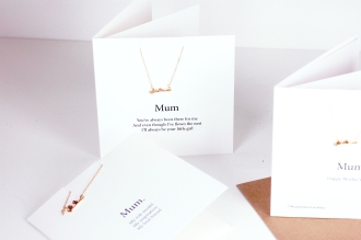 Mothers Day love birds Necklace Card trio £19.95 www.madewithlovedesigns.co.uk