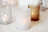 Trio of antique effect glass votives close up £14.99 www.madewithlovedesigns.co.uk
