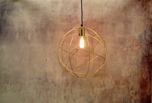 Brass lighting interiors