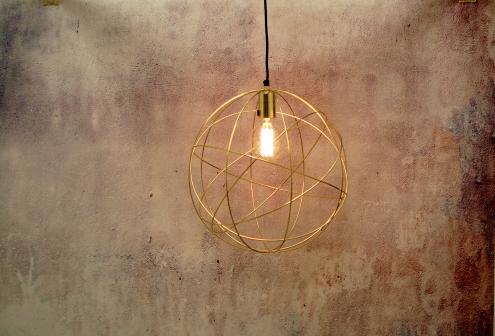 Brass lighting interiors