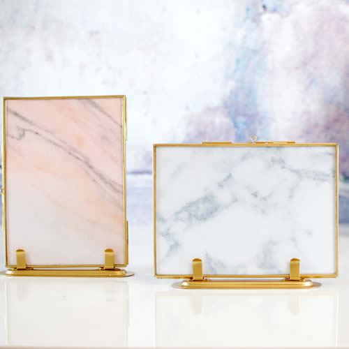 Gold brass 13x18cm glass picture frames