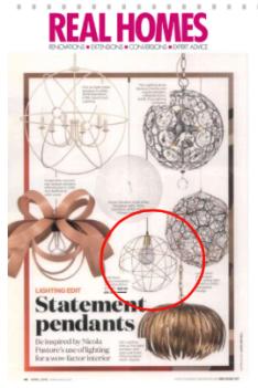 Gold brass modern pendant light