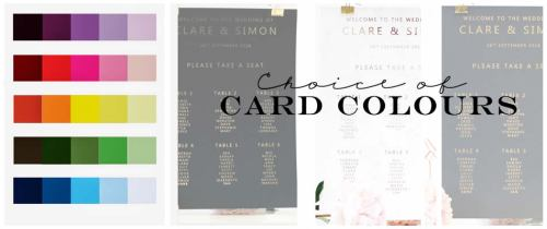 Card colours for gold printing