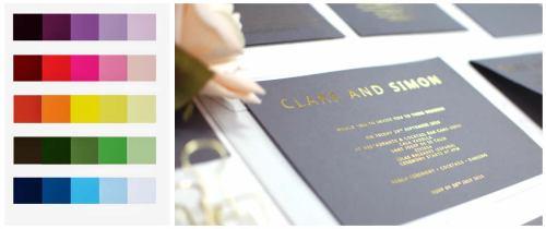 Grey & gold invitations