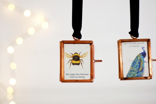 Christmas decoration mini picture frame bee £14.95 www.madewithlovedesigns.co.uk