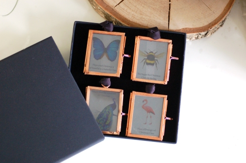 Christmas decoration mini picture frame box set £14.95 www.madewithlovedesigns.co.uk see through