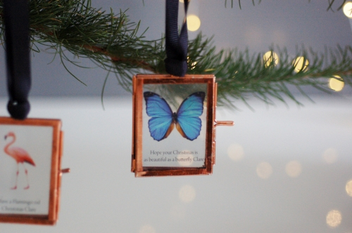 Christmas decoration mini picture frame butterfly £14.95 www.madewithlovedesigns.co.uk see through