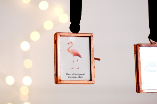 Christmas decoration mini picture frame flamingo £14.95 www.madewithlovedesigns.co.uk