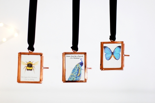 Personalised mini gallery copper frames www.madewithlovedesigns.co.uk