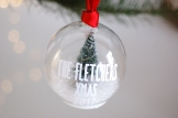 Led fairy light Christmas tree green personalised bauble from £14.95 www.madewithlovedesigns.co.uk 2