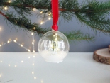 Led fairy light Christmas tree green personalised bauble from £14.95 www.madewithlovedesigns.co.uk 7