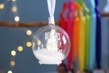 Led fairy light Christmas tree white personalised bauble from £14.95 www.madewithlovedesigns.co.uk 4
