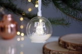Led fairy light Christmas tree white personalised bauble from £14.95 www.madewithlovedesigns.co.uk 7