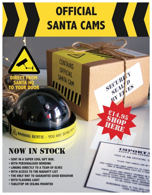 He's watching... Santa Cams new in stock