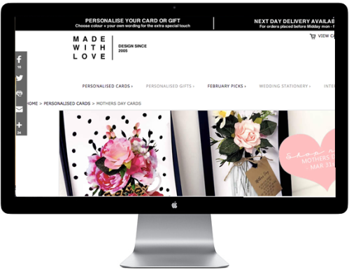 New website look for Made With Love