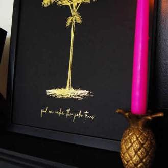 personalised black and gold foil prints UK